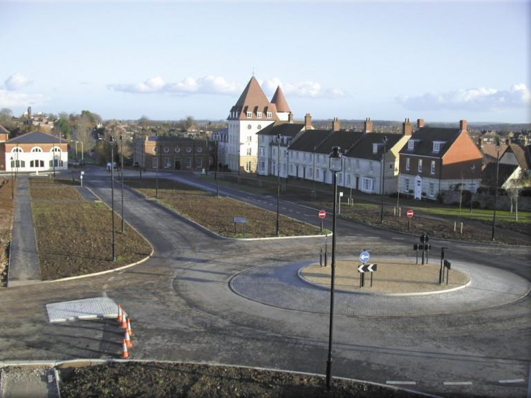 Poundbury housing road
